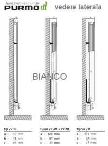 Calorifer vertical Purmo VR21C/2100/300
