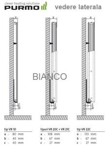 Calorifer vertical Purmo VR21C/2100/600