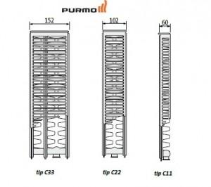 Calorifer Purmo Ventil Compact VC 22x600x1600